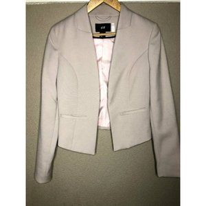 H&M Cream Jacket Blazer Cropped Size 4